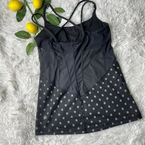 Lululemon Exquisite Tank in Ghost Dot Black Size 6